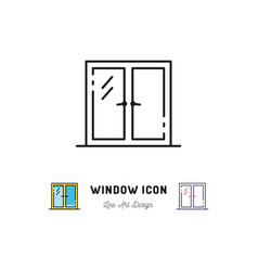 window icon line art symbol vector image