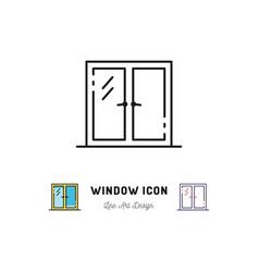 Window icon line art symbol vector