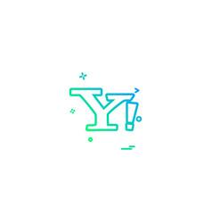 Yahoo mail icon design vector