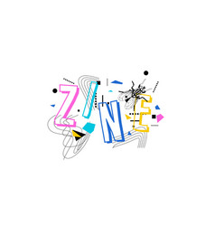 Zine culture poster vector