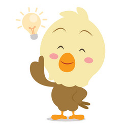 eagle with idea character vector image