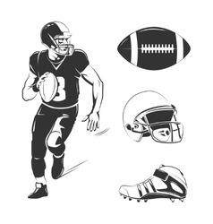 elements for american football labels vector image vector image