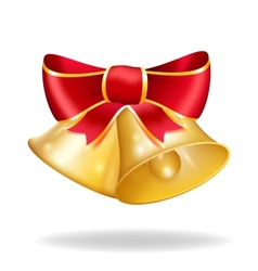 Jingle bells with red bow vector image vector image