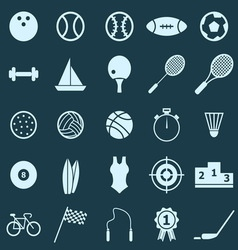 Sport color icons on blue background vector image vector image