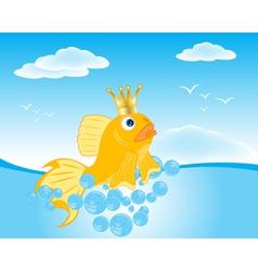 Goldfish seaborne vector image