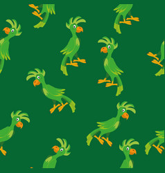 parrot seamless pattern vector image