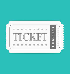 ticket template vector image
