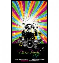 music disco flyer vector image vector image