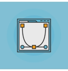 Web design flat icon or logo vector