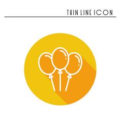 balloon air balloon icon party celebration vector image vector image