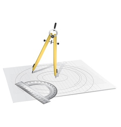Drawing Compass vector image vector image