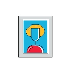 Fine art concept painting icon framed portrait vector image