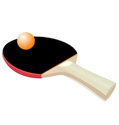 table tennis bat vector image