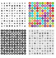 100 smuggling icons set variant vector