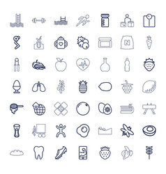 49 healthy icons vector