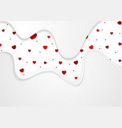 abstract valentines day greeting card background vector image