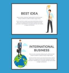 Best idea international business set banners vector