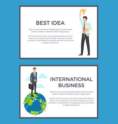 best idea international business set of banners vector image