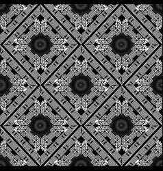 black and white greek geometric seamless pattern vector image