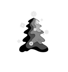 black fir tree vector image