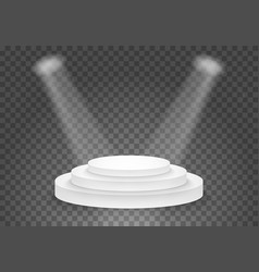 Black platform template 3d realistic winner vector