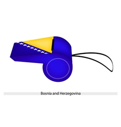 Blue and Yellow on Bosnia and Herzegovina Whistle vector