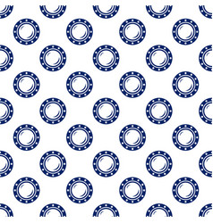 Blue porthole seamless pattern vector
