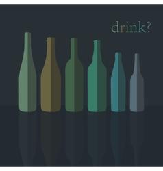 Bottles icons flat design vector