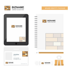 Bricks wall business logo tab app diary pvc vector