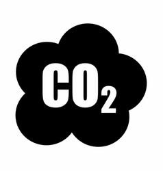 carbon dioxide symbol vector image