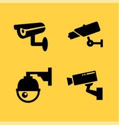 cctv camera icon security video sign cctv vector image