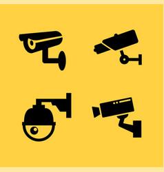 Cctv camera icon security video sign vector