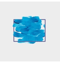 Chaotic blue round spot of paint vector image
