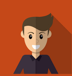 Character man male smiling image vector