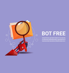 Chat bot search robot virtual assistance of vector