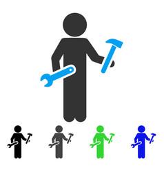 Child serviceman flat icon vector