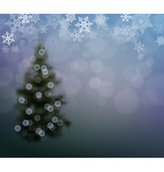 Christmas Background with a Christmas Tree and vector image