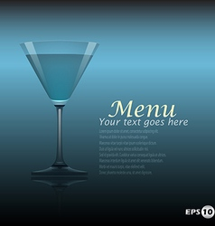 cocktail template vector image