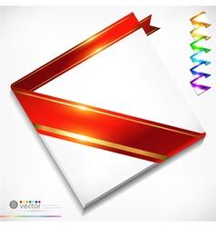 Colorful ribbons set vector image