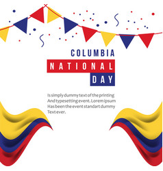 Columbia national day template design vector