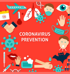 Coronavirus prevention template poster vector