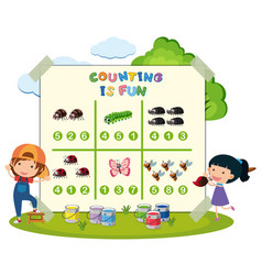 Counting is fun games vector