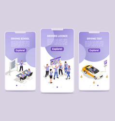 driving school mobile template vector image