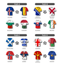 european soccer play-off draw 2020 group of vector image