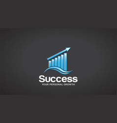 finance success logo graphic design vector image