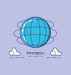 financial technology design vector image