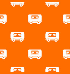 food trailer pattern seamless vector image