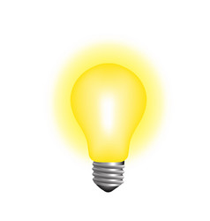 glowing lightbulb realistic concept idea vector image