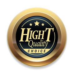 golden badge quality marker vector image