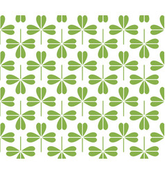 green leaf seamless pattern background vector image